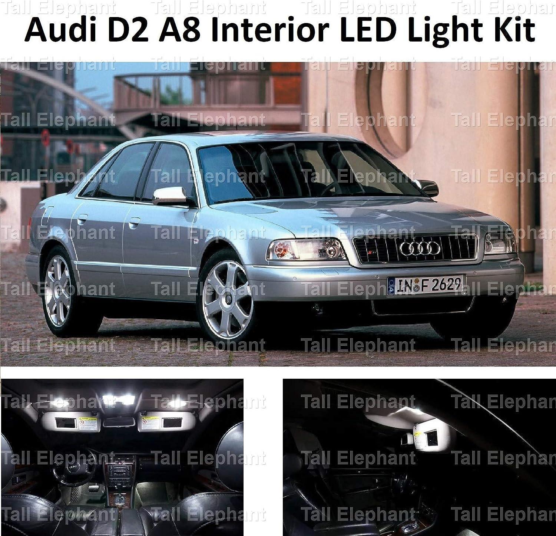2002 LED Full interior Kit de actualizaci/ón Kit Set Xenon Blanco Elefante alto Premium A8 S8 D2 1994