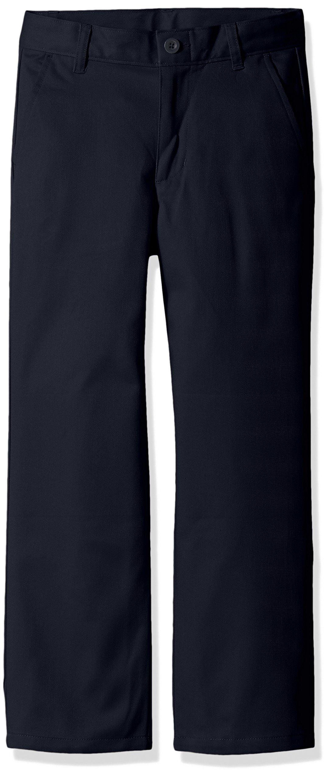 Dockers Boys' Big Uniform Twill Pants, Navy, 08