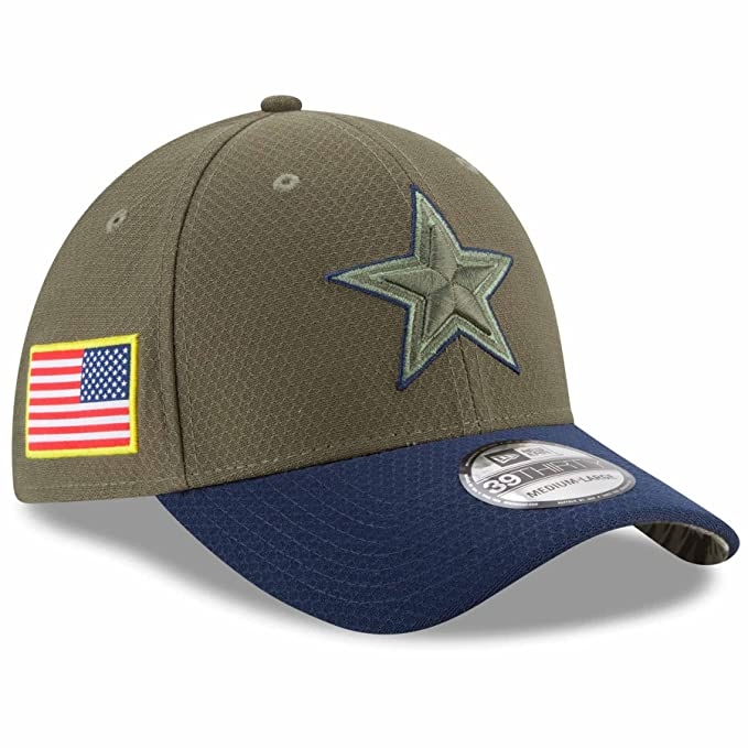 Amazon.com  Dallas Cowboys NFL 2017 Salute To Service 39THIRTY Cap ... f8f951f0e