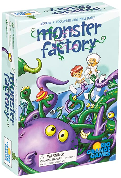 amazon com monster factory board game toys games