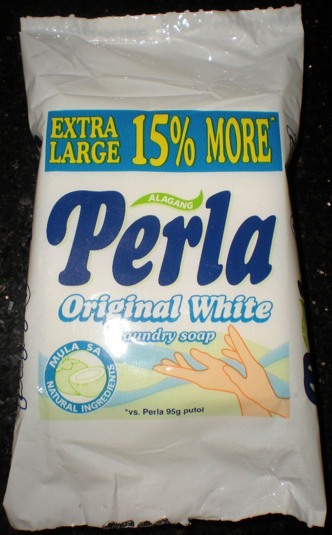 Perla Original White Laundry Soap 110g Extra Large Philippine Product
