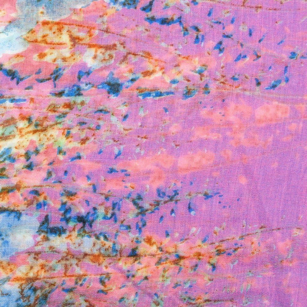 Rundschal Hals-Tuch in verschiedenen Farben mit Blumen Motiv als perfektes Herbst Winter Accessoire Geschenkidee f/ür Frauen und M/ädchen MANUMAR Loop-Schal f/ür Damen Schlauch Damen-Schal