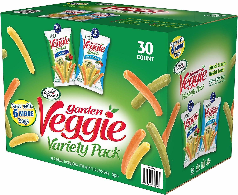 Sensible Portions Garden Veggie Snack Straws Shape Chips Variety Pack, 30 Count: Amazon.es: Alimentación y bebidas