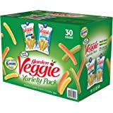 Sensible Portions Garden Veggie Snack Straws Shape Chips Variety Pack, 30 Count