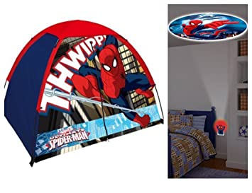 Marvel Ultimate Spiderman 2 Piece Indoor / Outdoor Kids C& Set - Play Tent u0026 Night  sc 1 st  Amazon.com & Amazon.com: Marvel Ultimate Spiderman 2 Piece Indoor / Outdoor ...