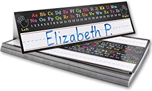 Classroom Name Tags, Alphabet Design (11.5 x 7 Inches, 72-Pack)