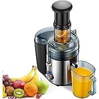 Licuadoras para Verduras y Frutas, 800W Licuadora Con 75MM de Boca Ancha Extractor de Jugos con 2 Velocidades(28000RPM…