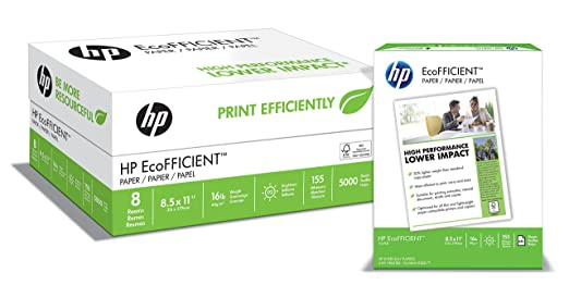Amazon.com : HP Paper, EcoFFICIENT Copy Paper, 16lb, 8.5x11 ...