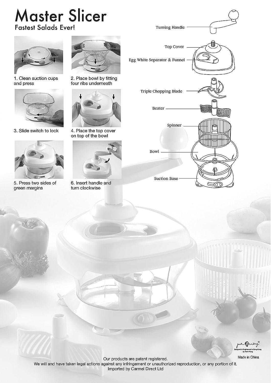 Amazon.com: Original MASTER SLICER, BPA Free - Manuel Food Processor ...