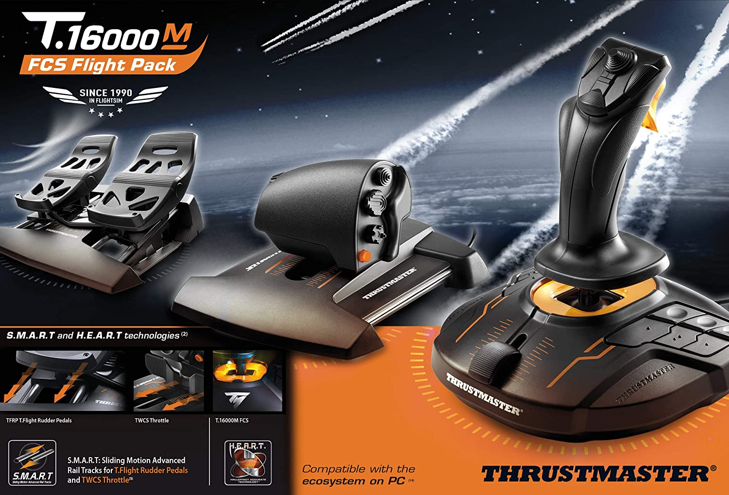Thrustmaster T.16000M FCS FLIGHT PACK - Joystick - PC: Thrustmaster: Amazon.es: Electrónica