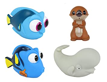 disney pixar finding dory bath toy squirter 4 pack otter dory