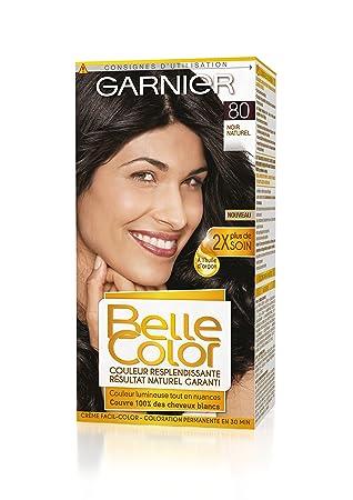 garnier belle color coloration permanente noir 80 noir naturel lot de 2 - Coloration Permanente Noir