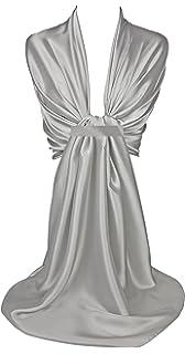 lunghezza 200/cm scialle avvolgente di satin da damigella donore della sposa stola con drappeggio Flora