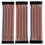 Electrobot Breadboard Jumper Wires Ribbon Cables Kit, Multicolored (120 Pieces)