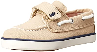 4f440534b4 Polo Ralph Lauren Kids Sander EZ Canvas Fashion Boat Shoe (Toddler ...