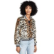 Jack Women's Cat Power Leopard Faux Fur Bomber