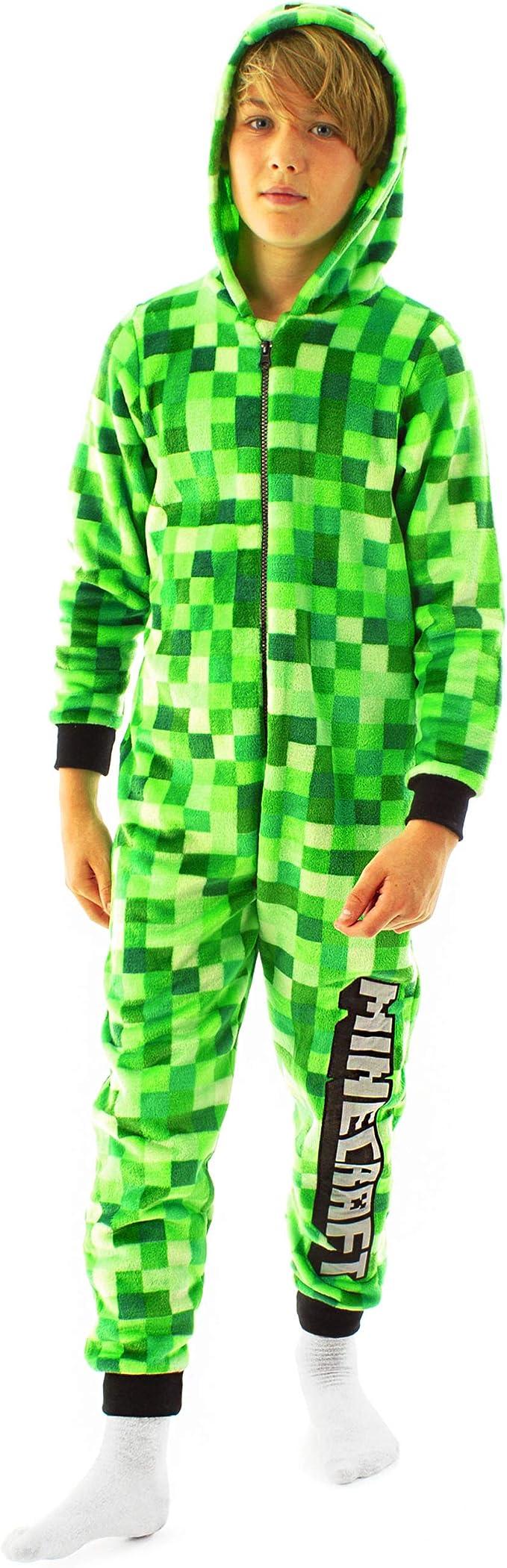 Minecraft Creeper Onesie For Boys & Girls  Kids Green Soft