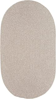 "product image for Candor Natural 9' 2"" x 13' 2"" Oval Braided Rug"