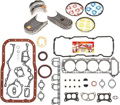 Domestic Gaskets Engine Rering Kit FSBRR3005A\0\0\0 Fits 89-97 Nissan 240SX D21 Pickup KA24E Full Gasket Set Standard Size Main Rod Bearings Standard Size Piston Rings