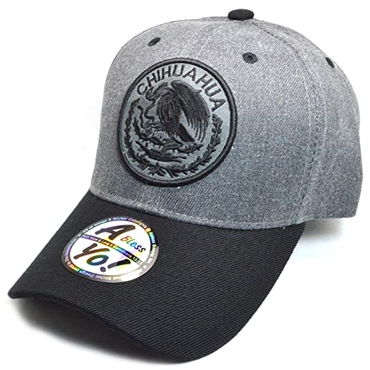 00742478f13 AblessYo Mexican hat Mexico Federal Logo Embroidered Curved Baseball Cap  AYO6038 (Chihuahua)