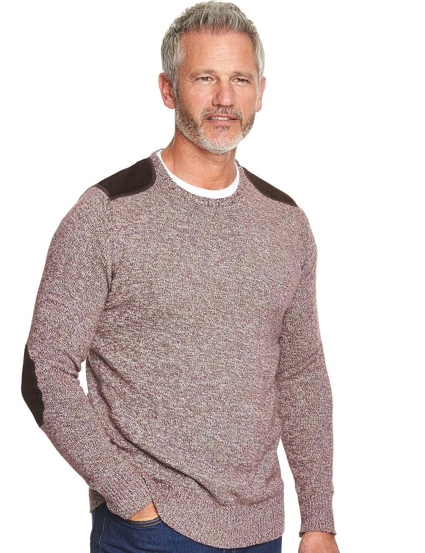 Mens Crew Neck Melane Yarn Sweater Jumper