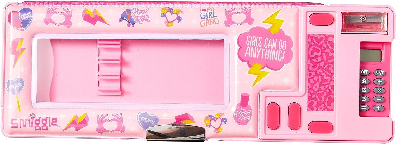 /Étui /à crayons Smiggle Express Pop Out Kids School pour gar/çons et filles avec calculatrice et taille-crayon Imprim/é Licorne