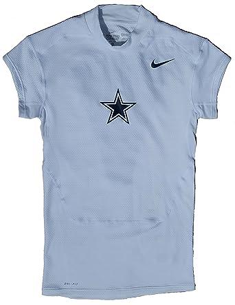Nike Men s Pro Combat NFL Dallas Cowboys Dri-Fit Cap Sleeve Compression  Training Shirt ( 3a2fd39e0
