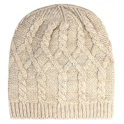 b7ab28cf323 Image Unavailable. Image not available for. Color  Aqua Brand Women s Cable  Knit Slouch Beanie Hat ...