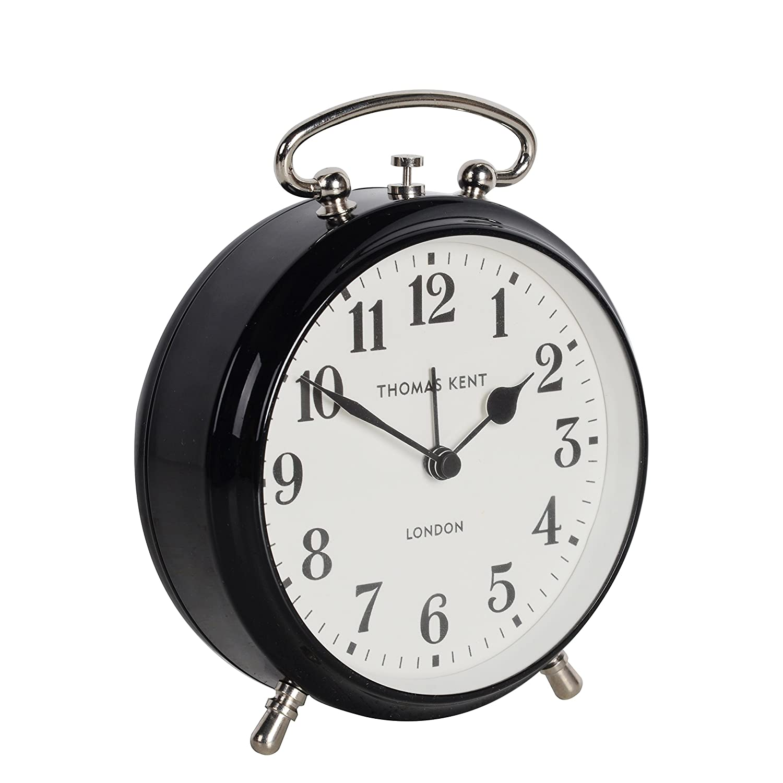 Thomas Kent Alarm Clock, Iron, Liquorice, 4'' 4'' 0816SNJATGU
