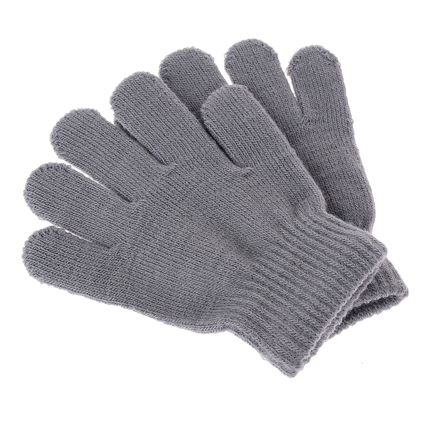 Pinksee Kids Boys Girls Winter Warm Stretchy Knitted Magic Gloves
