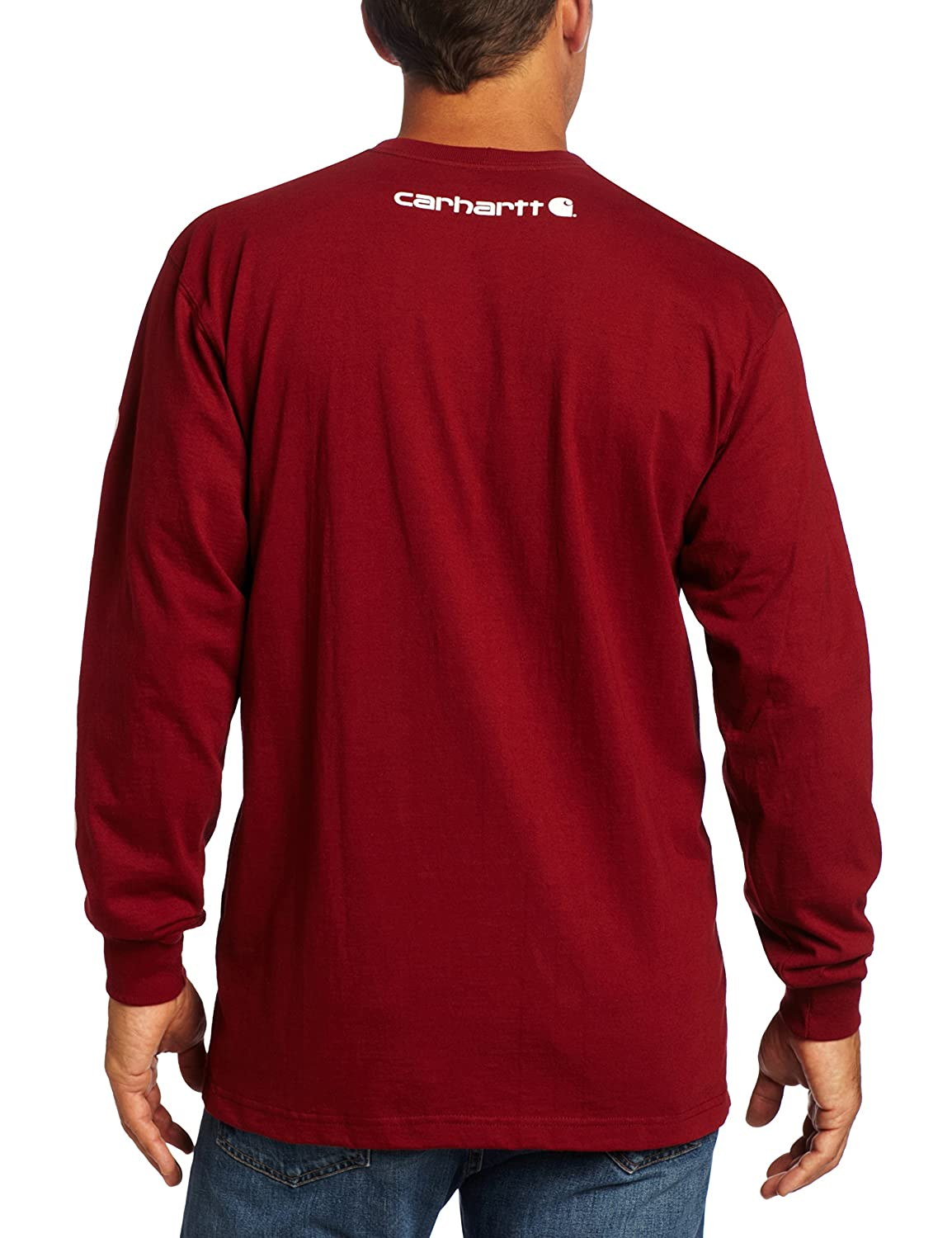 Carhartt Mens Signature Sleeve Logo Long Sleeve T-Shirt