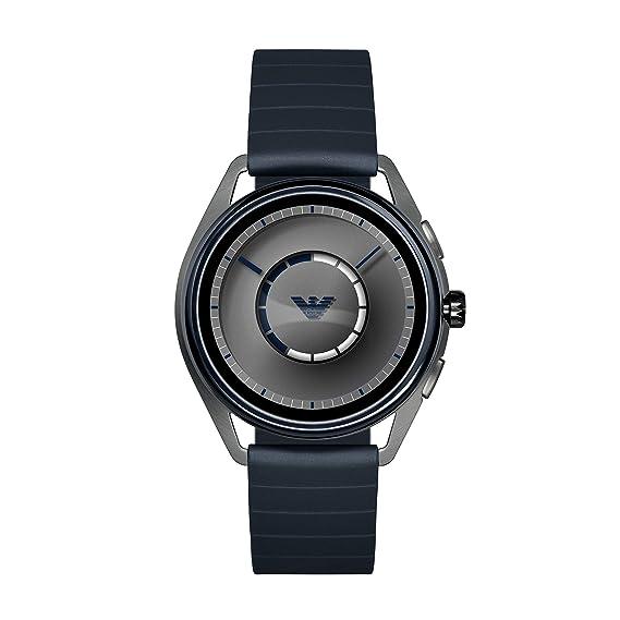 Emporio Armani Reloj Hombre de Digital con Correa en Caucho ART5008: Amazon.es: Relojes