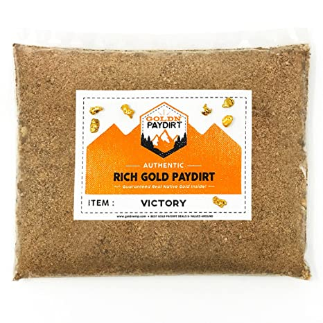 Goldn Gold Paydirt Victory Panning Pay Dirt Bag Prospecting Concentrate