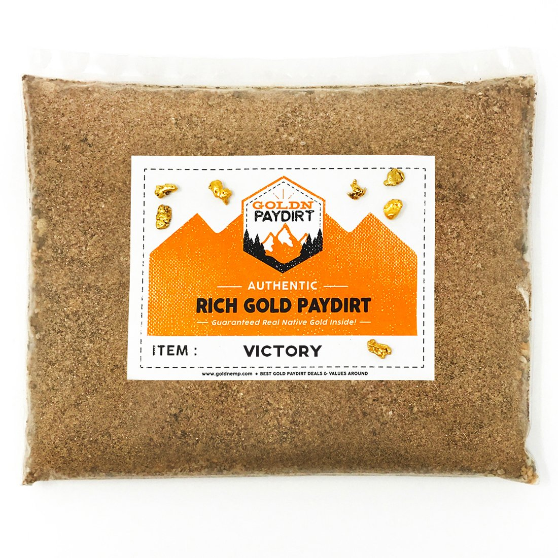 Goldn Gold Paydirt Victory Panning Pay Dirt Bag - Gold Prospecting Concentrate