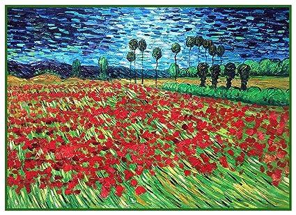 Amazon orenco originals field poppy flowers vincent van gogh orenco originals field poppy flowers vincent van gogh counted cross stitch pattern mightylinksfo