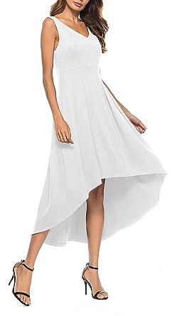 V-Neck High Low Cocktail Dress