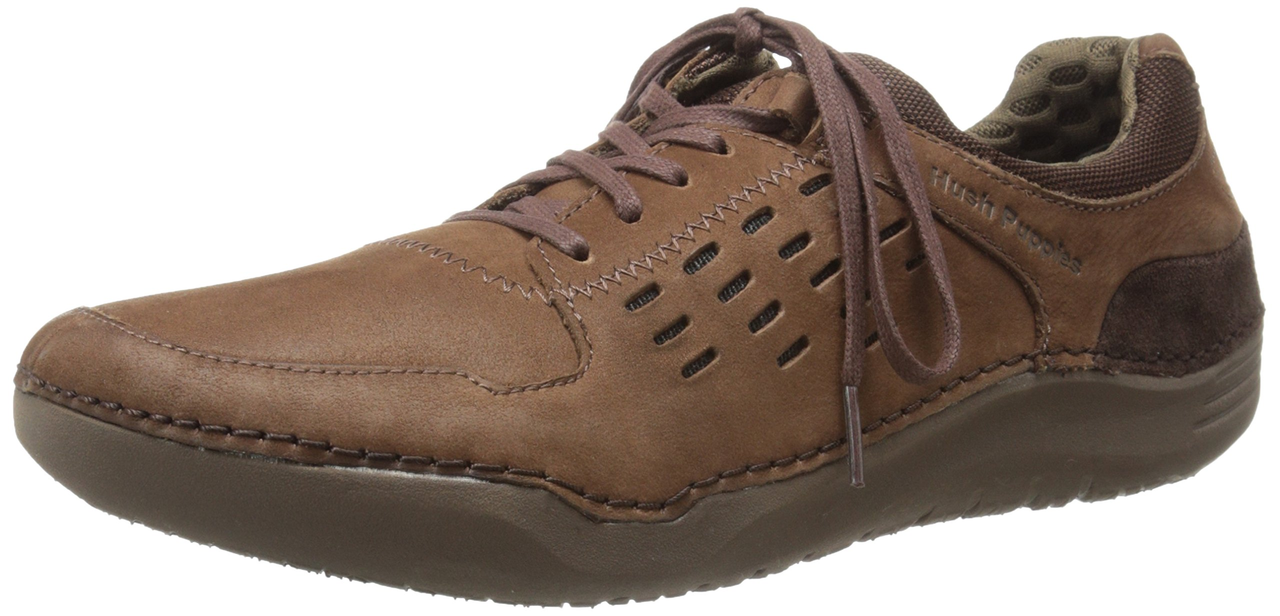 Hush Puppies Men's Hinton Method Casual Sneaker, Brown Leather, 13 M US