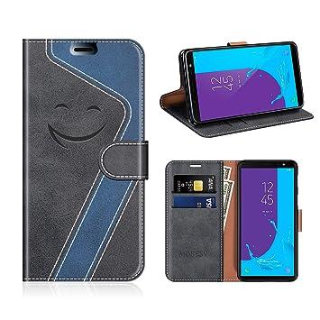 19e628d54c3 MOBESV Smiley Funda Cartera Samsung Galaxy J6 2018 Magnético, Funda Cuero  Movil Samsung J6 2018 Carcasa Case con Billetera/Soporte para Samsung Galaxy  J6 ...