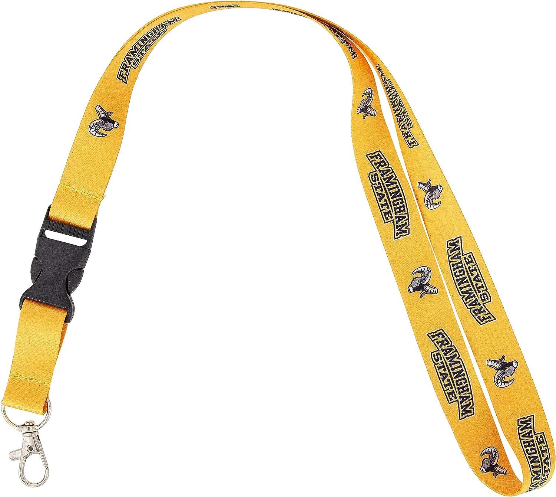 Framingham State University FSU Green College NCAA Car Keys ID Badge Holder Lanyard Keychain Detachable Breakaway Snap Buckle
