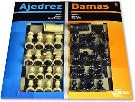 Comprar Fournier - Tablero Grande Ajedrez/Damas y fichas, 40 x 40 cm (F29459)