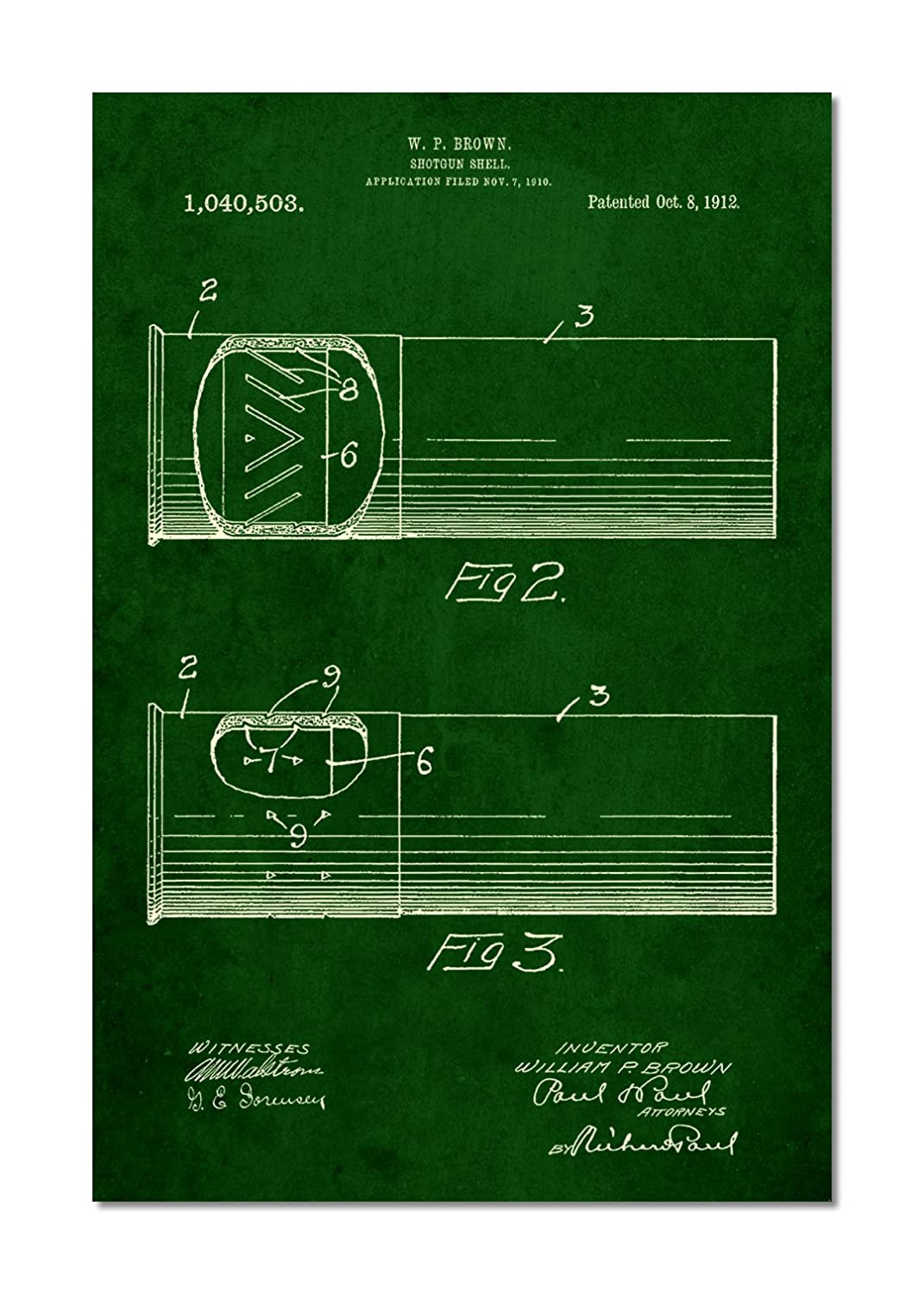 Shotgun Shell Patent Poster Posters Prints Diagram