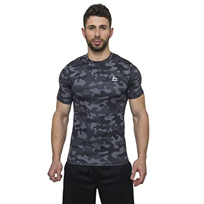 RBX Active Men's Camo Printed Short Sleeve Compression T-Shirt