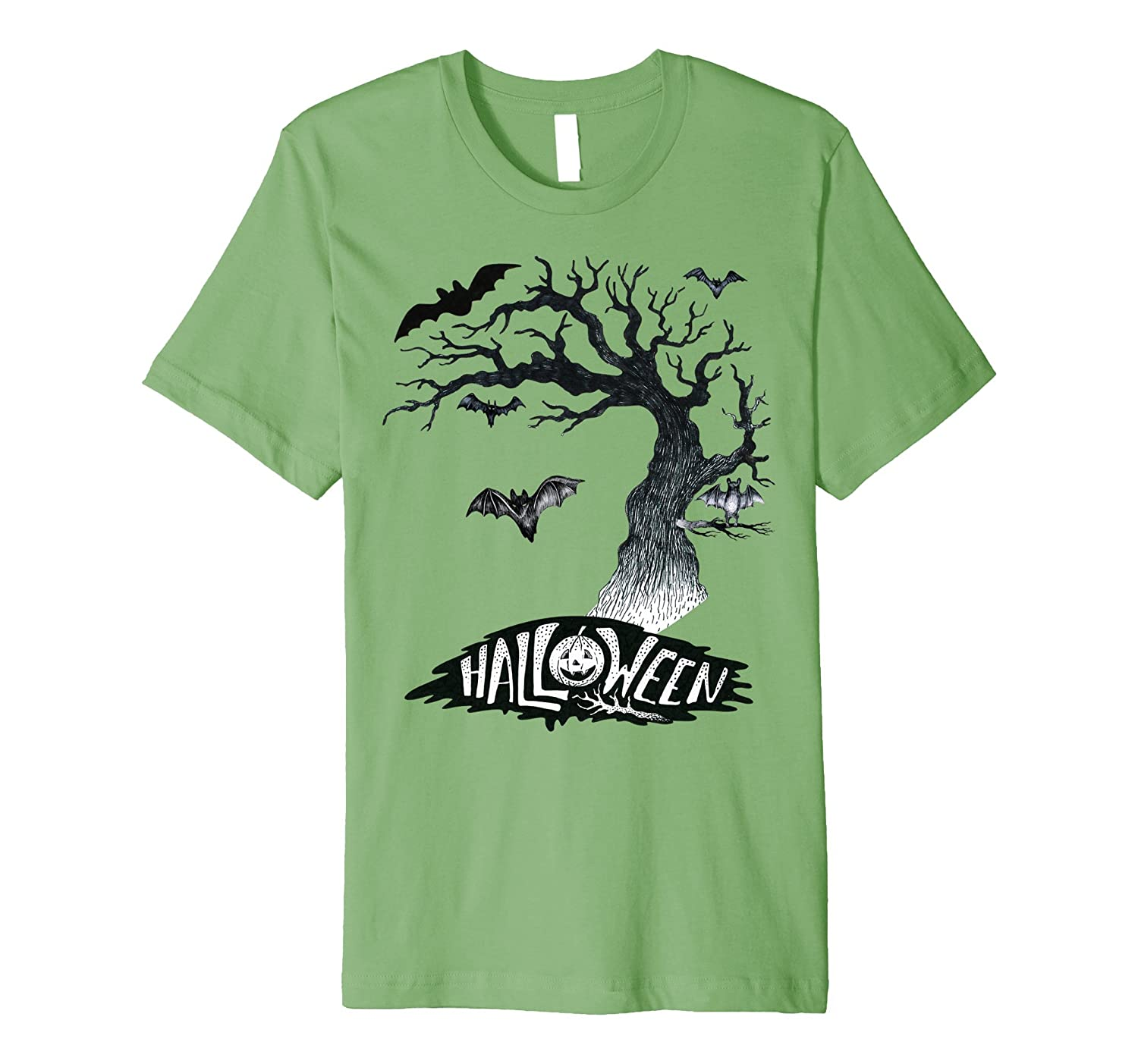 Happy Halloween Bats in Haunted Tree Costume T-Shirt