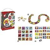 Janod - J02805 - Coffret 3 jeux de société et de mémo
