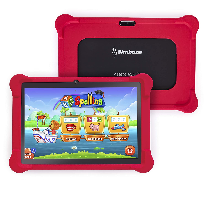 [4 Bonus Item] Simbans TangoTab 10 Pollici Bambini Tablet | 2 GB RAM, 32 GB Disco, Android 7.0 Nougat | Modello 2018 | GPS, WiFi, USB, HDMI, Bluetooth | IPS Schermo, 2 + 5 MP fotocamera PC