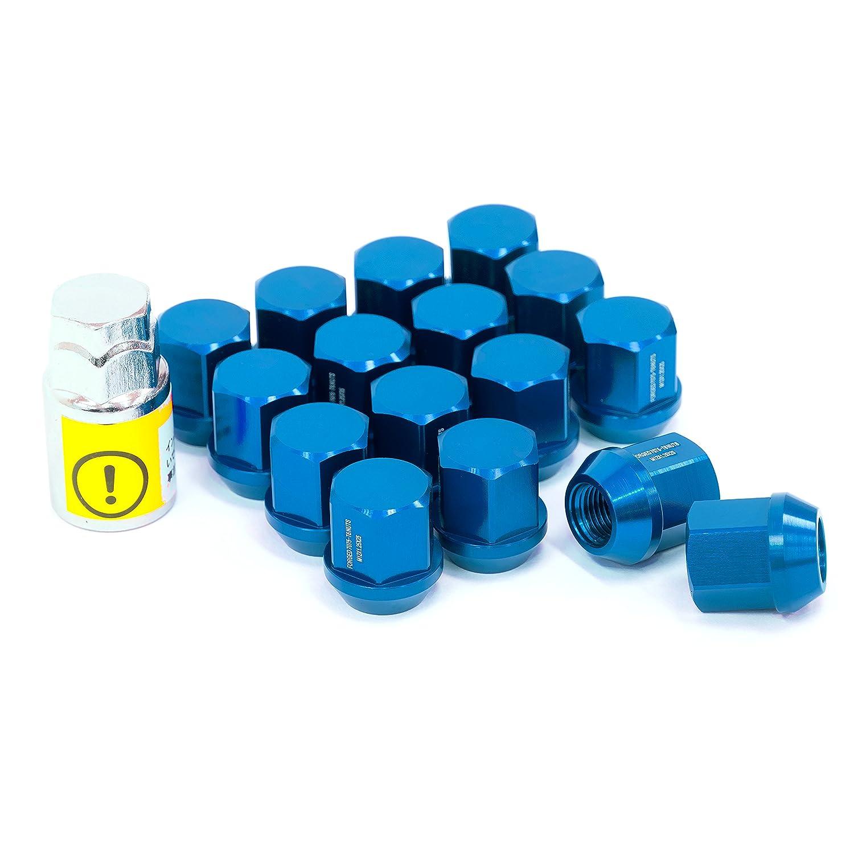 LYZER ジュラルミンナット 袋型 25mm 16本 【M12*P1.25 】ブルー DN-0002 B074X6B59L