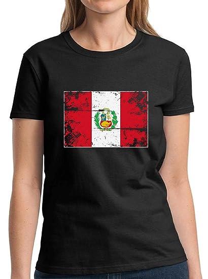 Amazon.com  Vizor Peru Flag Shirt Peruvian Soccer Shirt Peru Shirts for Women  Peruvian Flag  Clothing ce6ccddd25