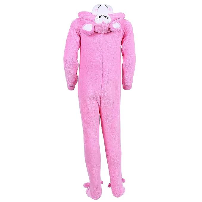 Las niñas Rosa mono Onesie pijama forro polar para niño disfraz edad 3 -13 años rosa Talla:3-4 Years 104 cm: Amazon.es: Bebé