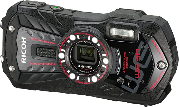 Ricoh Wg 30 Digitalkamera 2 7 Zoll Schwarz Kamera