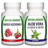 Super Ketone Plus (60 Capsules) & Aloe Vera Cleanse (60 Capsules)(Bundle Deal) By Natural Answers